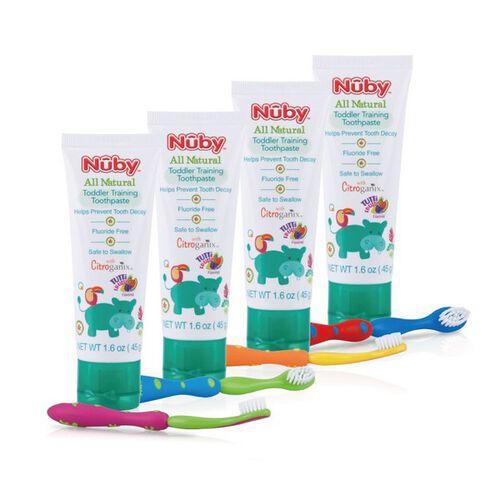 Nuby 兒童訓練牙膏&兒童軟毛牙刷組 - 隨機發貨