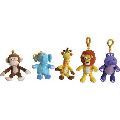 Animal Alley寵物王國 Geoffrey傑菲與朋友絨毛鑰匙圈