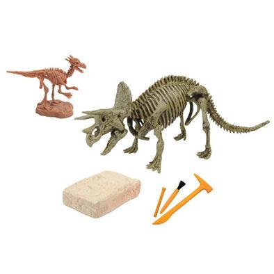 Uncle Milton米爾頓叔叔Dr﹒Steve Hunters  恐龍挖掘玩具-三角龍