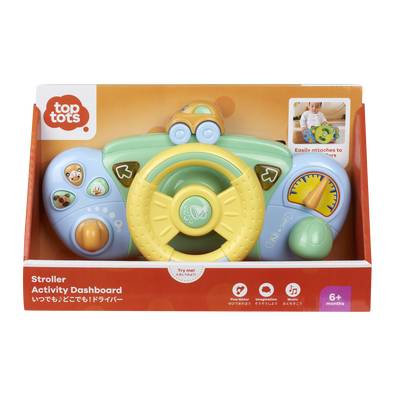Top Tots天才萌寶 嬰兒推車玩具-方向盤