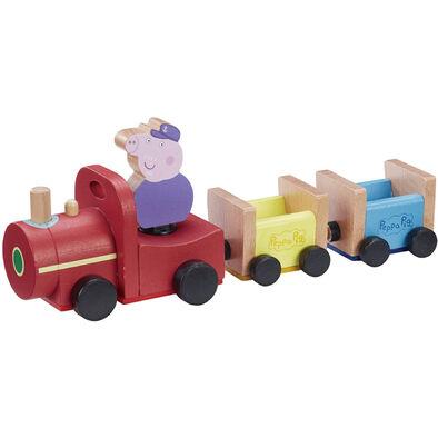 Peppa Pig粉紅豬小妹-(木製)豬爺爺單節火車