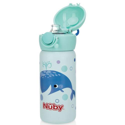 Nuby 300Ml不銹鋼真空直飲杯/鯨魚