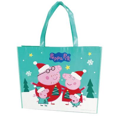 Peppa Pig粉紅豬小妹聖誕購物袋