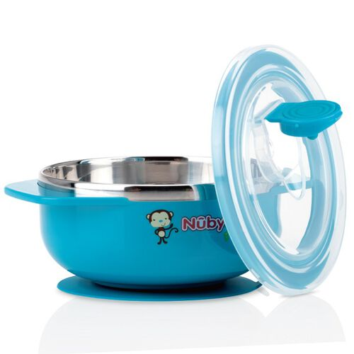 Nuby 不鏽鋼吸盤碗 - 隨機發貨