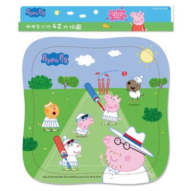 Peppa Pig粉紅豬小妹:佩佩愛玩球(42片拼圖)