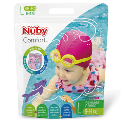 NUBY 游泳尿布(女/L)
