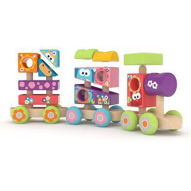 J'adore 木製積木火車