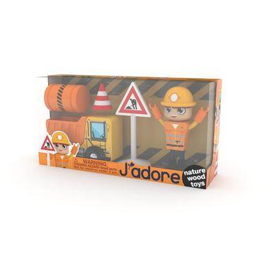 J'adore工程車木玩禮盒組