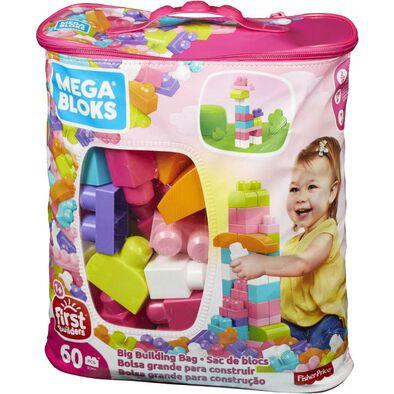Mega Bloks美高積木60片積木袋(粉)